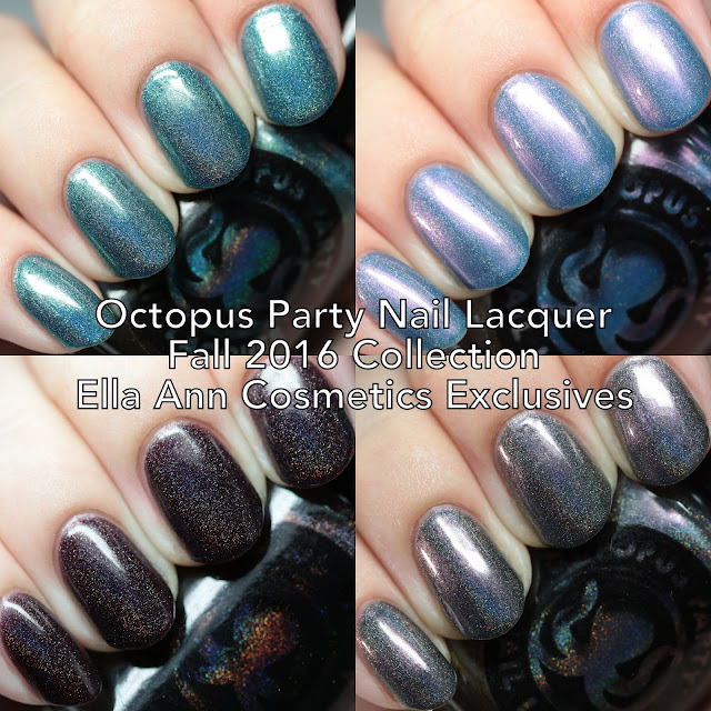 Octopus Party Nail Lacquer Fall 2016 Collection Ella Ann Cosmetics Exclusives