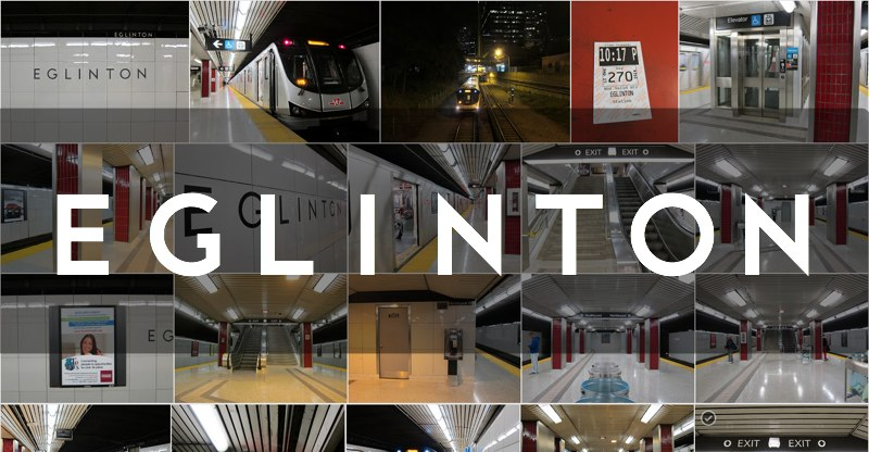 Eglinton subway station photo gallery