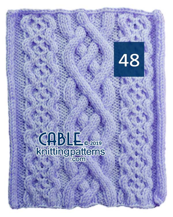 Cable Knitting Pattern 48