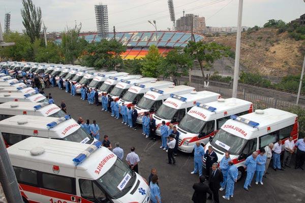China dará a Armenia 200 nuevas ambulancias