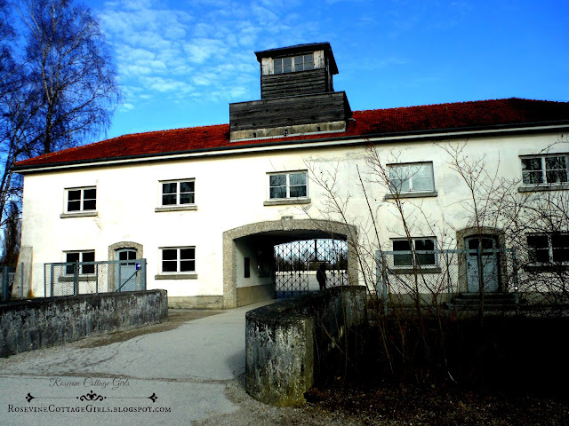 Main building & gate at Dachau