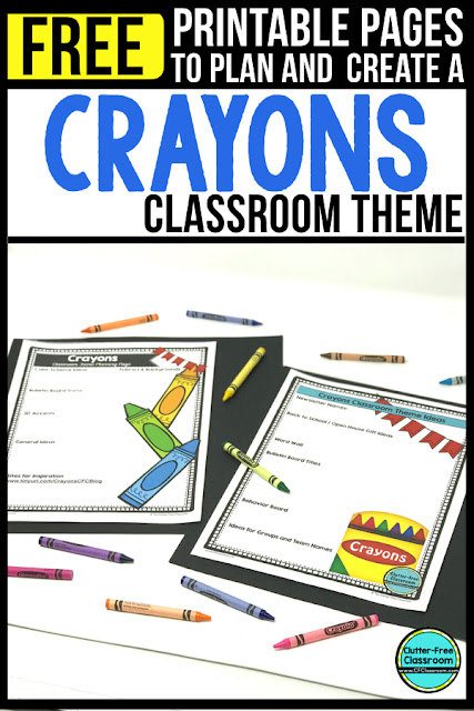 If you're a teacher who is thinking about a CRAYON theme then this classroom decor blog post is for you. It's full of photos, tips, ideas, and free printables to plan and organize how you will set up your classroom for next year.  http://bit.ly/cfccrayon