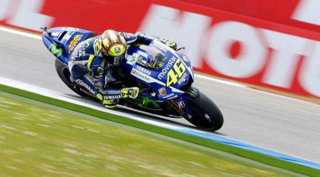 Bisa Start Baris Depan di Jerman, Rossi Tidak Menyangka