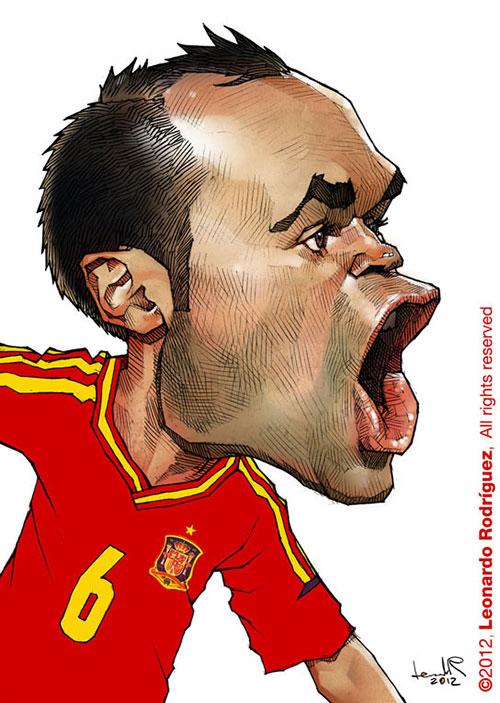 """Andres Iniesta"" por Leonardo Rodriguez"