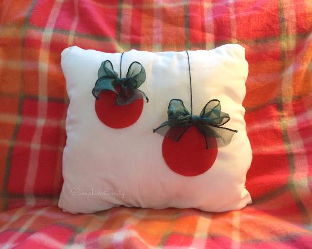 DIY Christmas Ornament Pillow