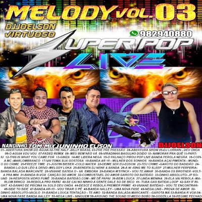 CD MELODY VOL.03 SUPER POP LIVE 2017