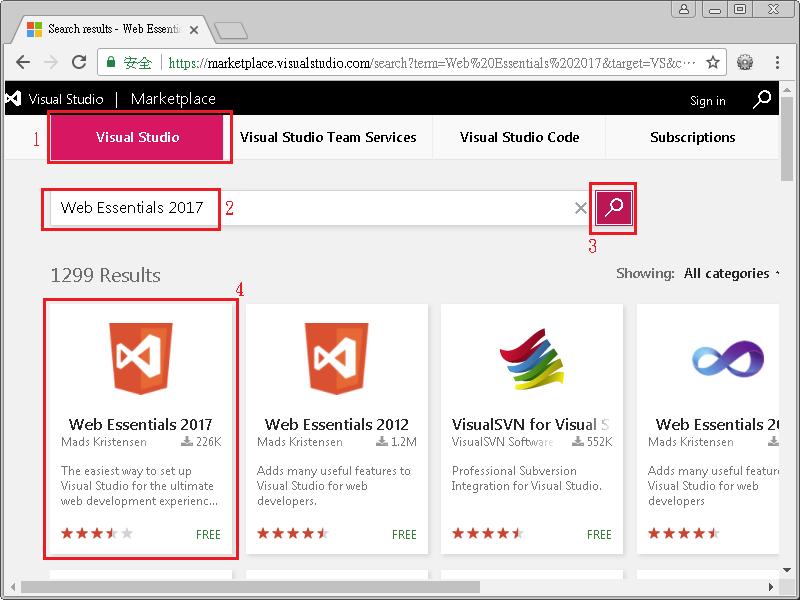 浮雲雅築: [研究] 用 Web Essentials 2017 在 Visual Studio 2017 IDE 縮小 .js (JavaScript 檔) 成為 .min.js