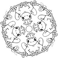 malvorlagen zum ausmalen: malvorlagen: mandala froschkönig