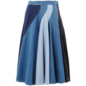 Anrealage patchwork denim skirt, $407.40 from Farfetch