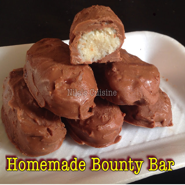 Homemade Bounty Chocolate / Bounty Bar