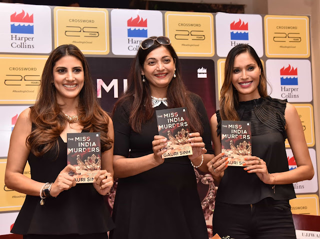 Parizad Kolah Marshall, Author Gauri Sinh and Ujjwala Raut at the launch of the book The Miss India Murders