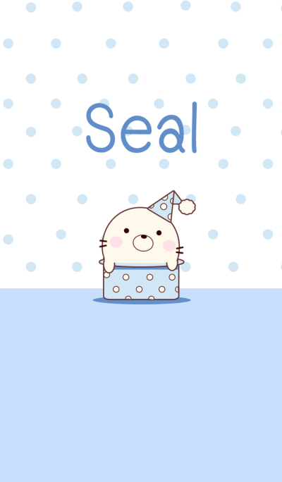 Seal In Blue