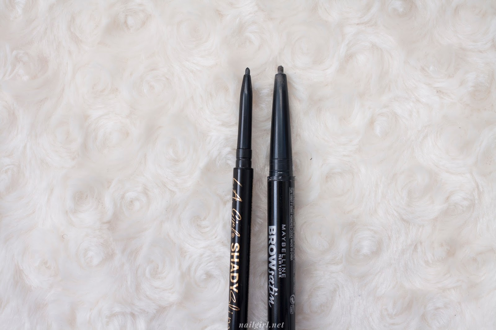 l.a. girl shady slim brow pencil comparison review