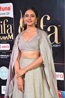 Cute Rakul Preet Singh in Deep Neck Cream Crop top Choli and Ghagra at IIFA Utsavam Awards March 2017  HD Exclusive Pics 02.JPG