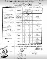 جدول إمتحانات الشهادة الاعدادية للصف الثالث الاعدادى بمحافظة المنيا 2018 أخر العام