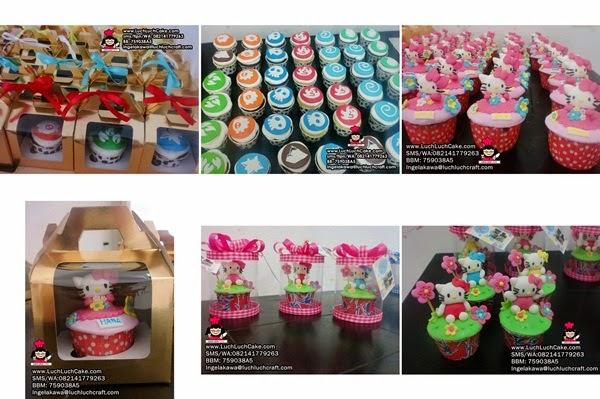 souvenir ulang tahun cupcake daerah surabaya - sidoarjo