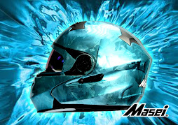 Masei 815 Blue Ice Chrome Helmets