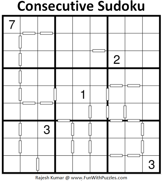 Consecutive Sudoku Puzzle (Daily Sudoku League #192)