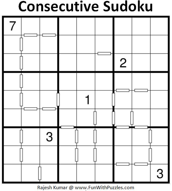 Consecutive Sudoku Puzzle (Daily Sudoku League #192)