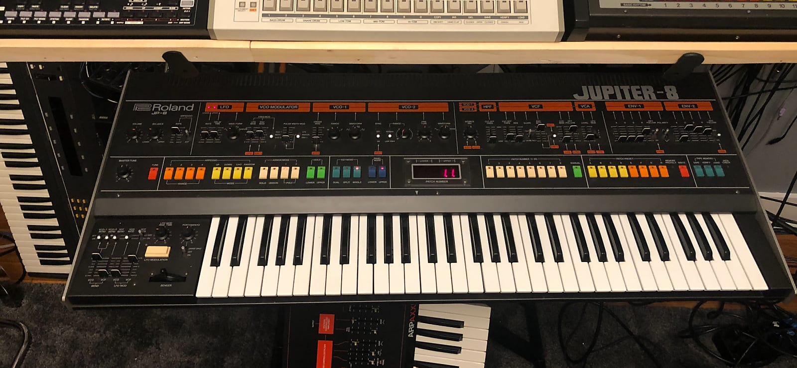 MATRIXSYNTH: Roland Jupiter-8 JP-8a final revision mint with Encore MIDI