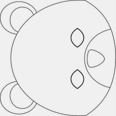 Bear:  Free Mask Template.