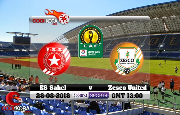 مشاهدة مباراة زيسكو يونايتد والنجم الساحلي اليوم 28-8-2018 دوري أبطال أفريقيا