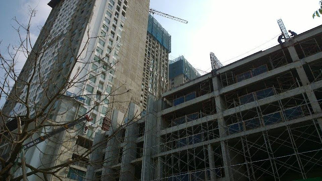 Hình ảnh công trường xây dựng dự án Eco Green City được ghi lại vào Chủ nhật 18/09/1989