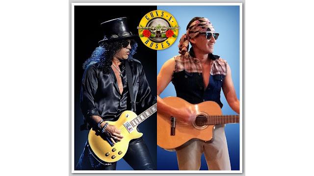 Tiru Guns N' Roses, Begini Gaya Sandiaga Uno Tampil Ala Rocker 80an