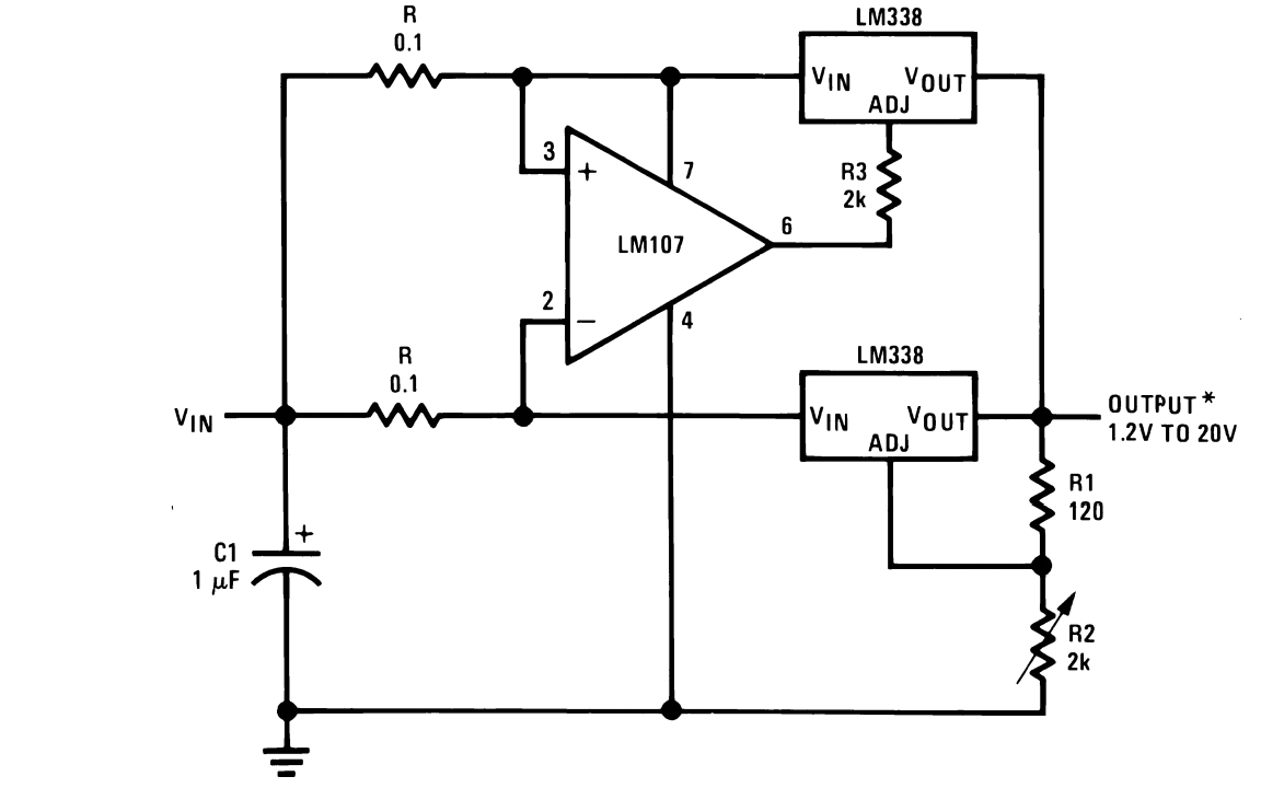 Adjustable Constant Current Source Schematic Wiring Diagrams For Supplycircuit Adjustableconstantcurrentsourcecircuitdiagram Ic Lm338 Application Circuits Explained In Simple Words Camille