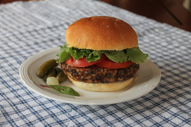 Food Lust People Love: The perfect lentil burgers have two secret ingredients, mozzarella cheese for fat and moisture and smoked paprika to mimic a little charbroiled flavor. Truly, you will not miss the meat.