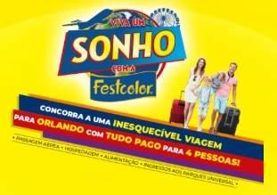 Cadastrar Promoção Festcolor Viva Um Sonho Orlando - Concorra Viagem Orlando