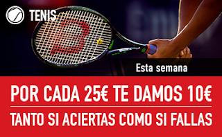 sportium Promo Tenis: Por cada 25€ ¡Te damos 10€! 17-23 septiembre