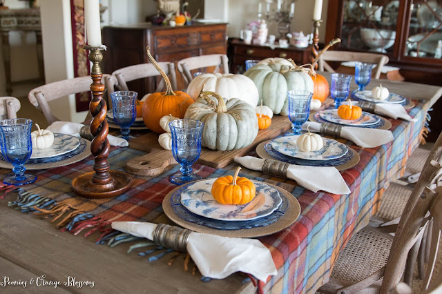 cozy and romantic Fall table setting