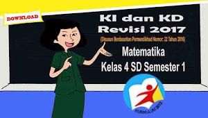 KI dan KD Matematika Kls 4 Semester 1 Kurikulum 2013 Revisi 2017