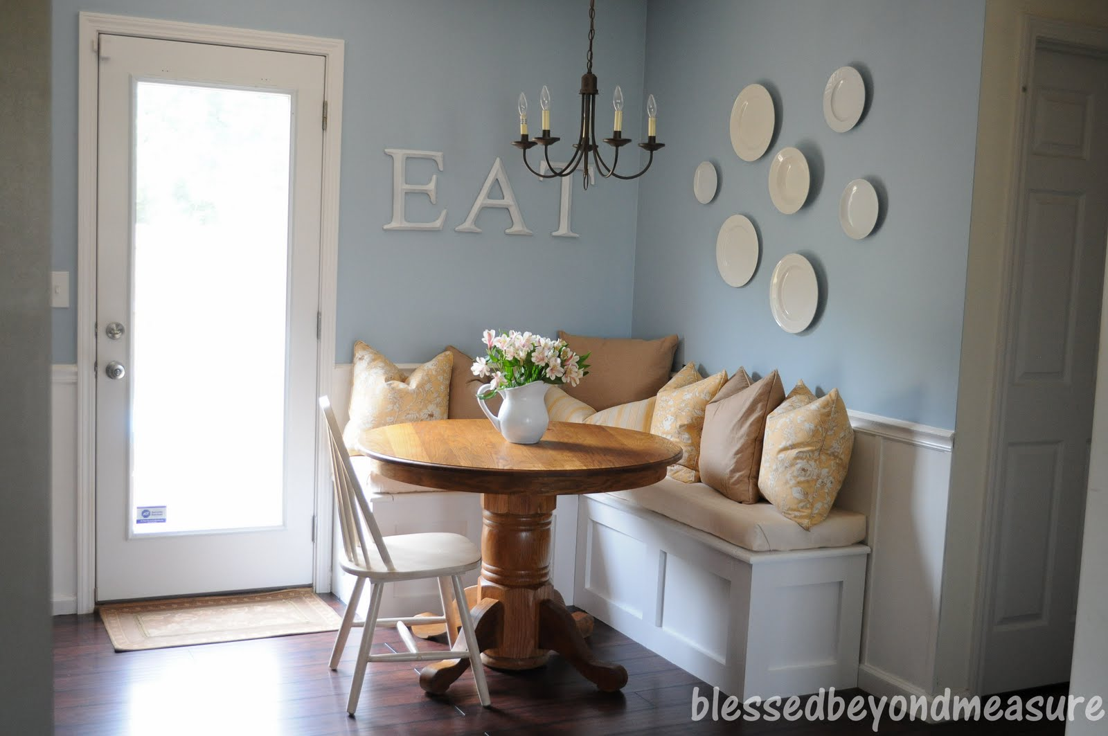 Built In Kitchen Seating Lowes Backsplash For Blessed Beyond Measure Our New Banquette