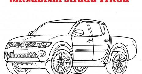 I LOVE OTOMOTIF: Mewarnai Gambar Mitsubishi Strada Triton