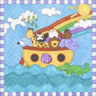 Fondos del Clipart de Arca de Noé con Animales de Retazos.