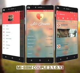 Download BBM Transparan MI-BBM Tema Couple v3.1.0.13 APK