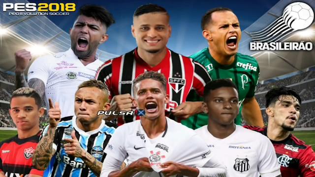 SAIU!! PES 2018 PPSSPP + CÂMERA DE PS4 BRASILEIRÃO & EUROPEU ATUALIZADO ANDROID