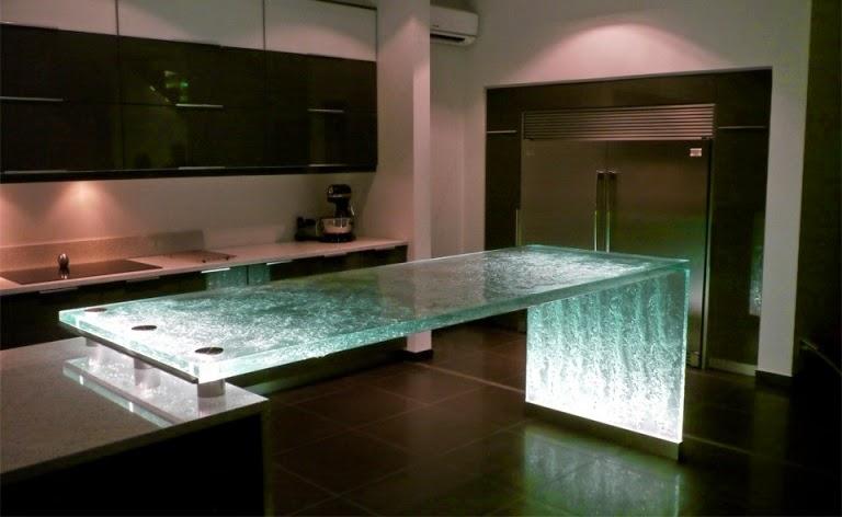 Hogares frescos 25 encimeras de cocina nicas - Encimeras de cocina de cristal ...
