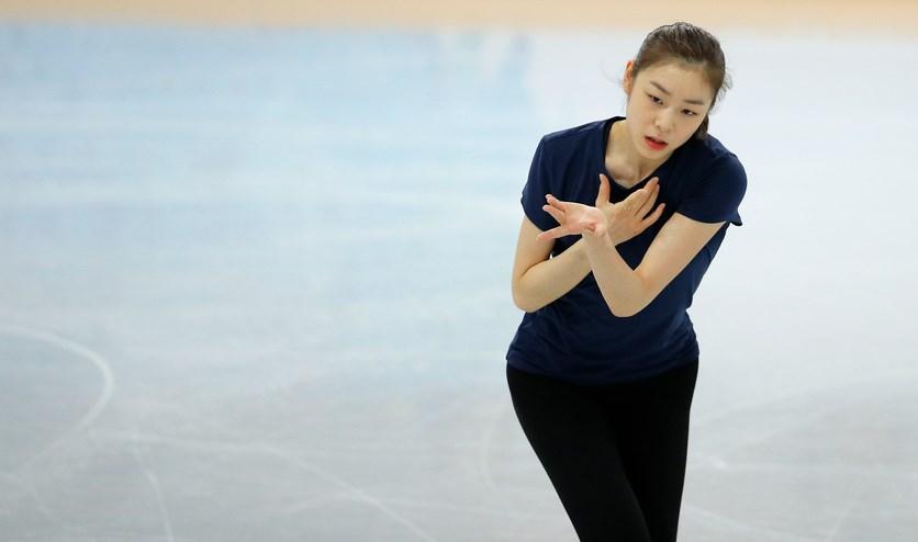 Atlet Korea Selatan Kim Yuna  di ajang Olimpiade