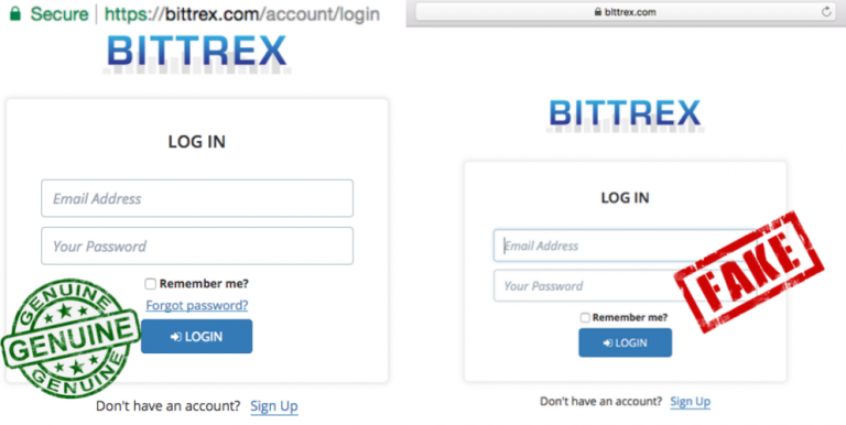 Phishing Scam: Fake Bittrex exchange site stealing users