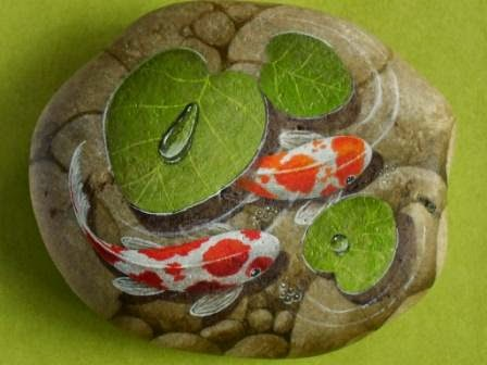 1000 images about painted rocks on pinterest for Koi pond rocks