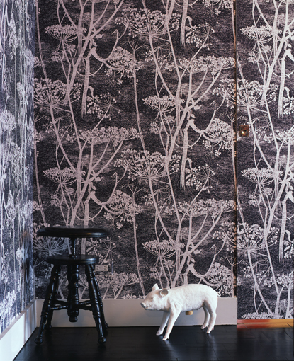 Cow Prsley Wallpaper by Cole and Son in a grisaille effect