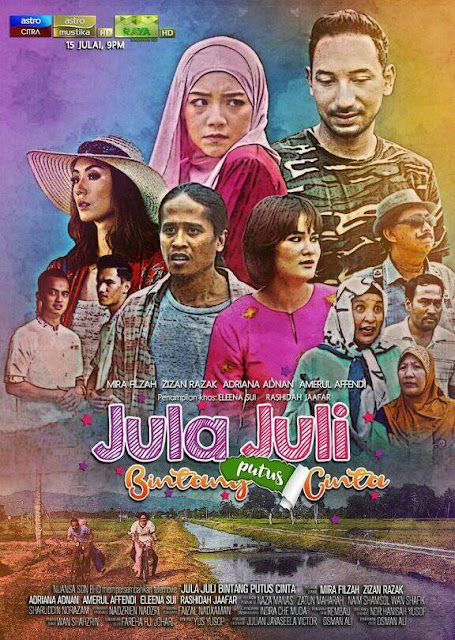 Telemovie Jula Juli Bintang Putus Cinta Lakonan Zizan Razak, Mira Filzah