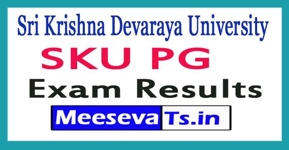 Sri Krishna Devaraya University SKU PG Exam Results 2017