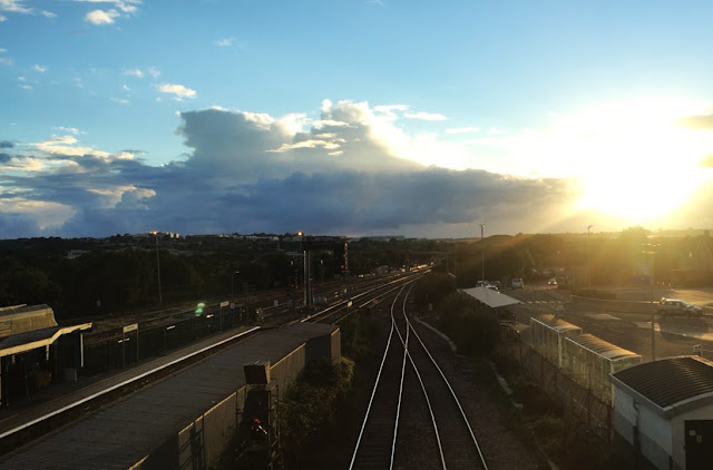 Bristol Parkway Sunset Stoke Gifford Bradley Stoke Train Travel Summer Sunshine