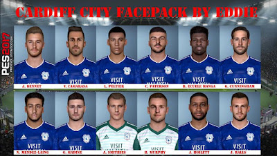 PES 2017 Cardiff City F.C. Facepack 2018/2019 by Eddie Facemaker