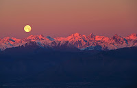 Full Moon over the Alps