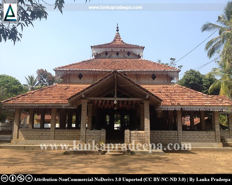 The preaching hall of Keragala temple